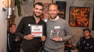 Bastian Hübschen (Brooks, Countrymanager DACH, r.) und Mathias Schulz (Head of CEP) Quelle: Stefan König / SAZ