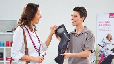 medizinische Kompressionsstrümpfe für die Venentherapie
