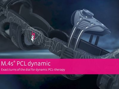 M.4s®PCL dynamic knee brace - Exact turns of the dial for dynamic PCL-therapy