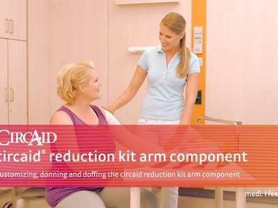 Customizing, donning and doffing the circaid reduction kit arm component