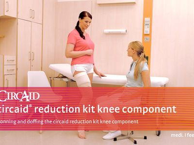 Donning and doffing the circaid reduction kit knee component