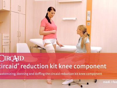 Customizing, donning and doffing the circaid reduction kit knee component