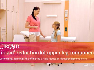 Customizing, donning and doffing the circaid reduction kit upper leg component