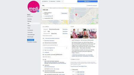 Info-Tab auf Facebook