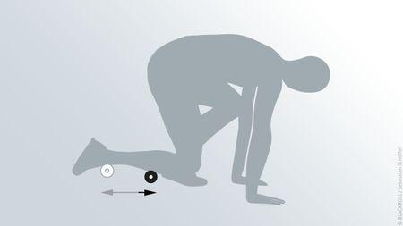 Übungen Blackroll Mini Schienbein