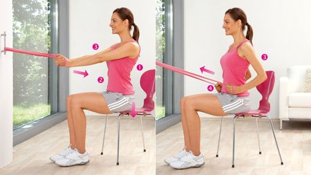 Hip pulls: Exercise to strengthen the back muscles / the large back muscle