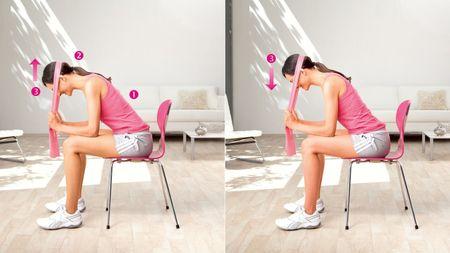 Kopfnicken: Übung zur Kräftigung der Nackenmuskulatur