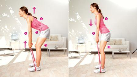Rumpfbeugen: Übung zur Kräftigung der unteren Rückenmuskulatur
