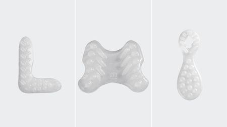 Beispiele vorgefertigter Pelotten der Bandagen Levamed/Achimed für Bein, Epicomed für Arm