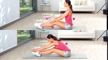 Inclinaison vers l'avant : exercice pour étirer les muscles du bas du dos