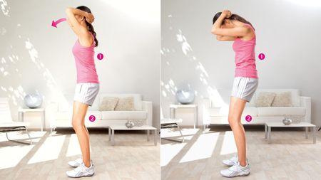 Appui sur la tête : exercice pour étirer les muscles du cou