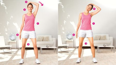 Extension de la tête : exercice pour étirer les muscles latéraux du cou