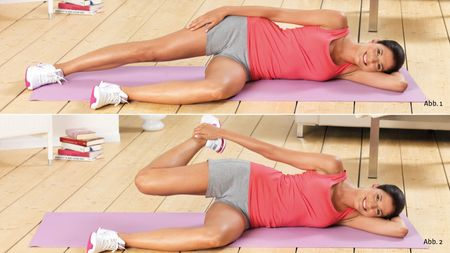 Lying quadriceps stretch