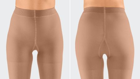 Tights with compressive panty top