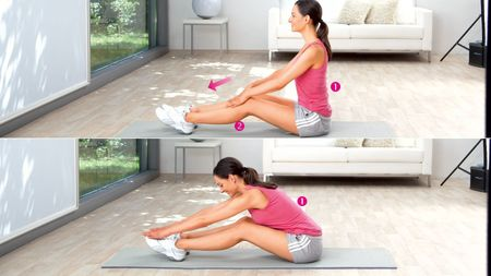 Растяжение поясничных мышц