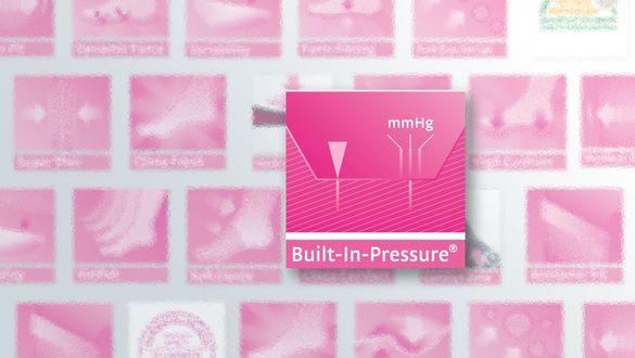 Built-In-Pressure System für unelastische circaid Kompressionsprodukte