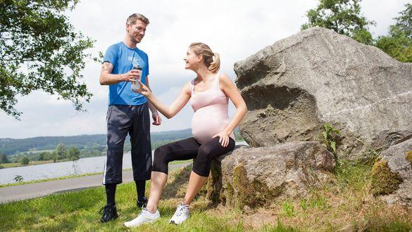 A prática moderada de esporte ajuda a animar e divertir as gestantes