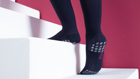 Anti-slip solutions for compression stockings