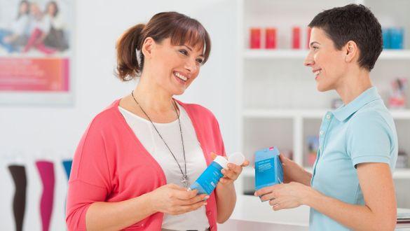Beratung zu medi Pflegeprodukten im Fachhandel