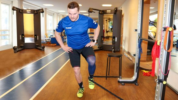 Christof Brandner wears the medi Rehab® one* after a cruciate ligament tear