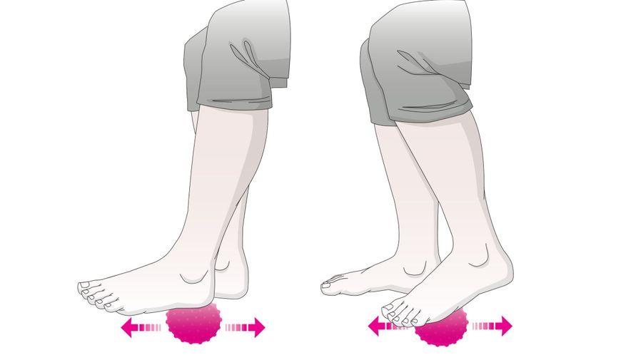 Übungen für die Füße: Fußmassage