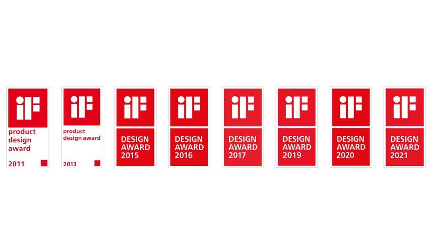 iF Design Award Gewinner Chronologie