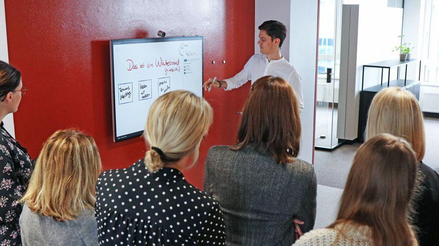 Modern Workplace Pilotprojekt Whiteboard