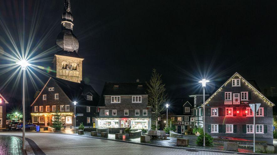 Wermelskirchen Nacht Landschaft Natur Marktplatz