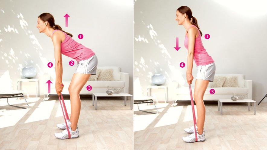 Übung zur Kräftigung der unteren Rückenmuskulatur