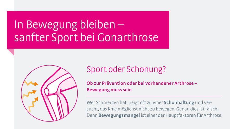 Sport bei Gonarthrose