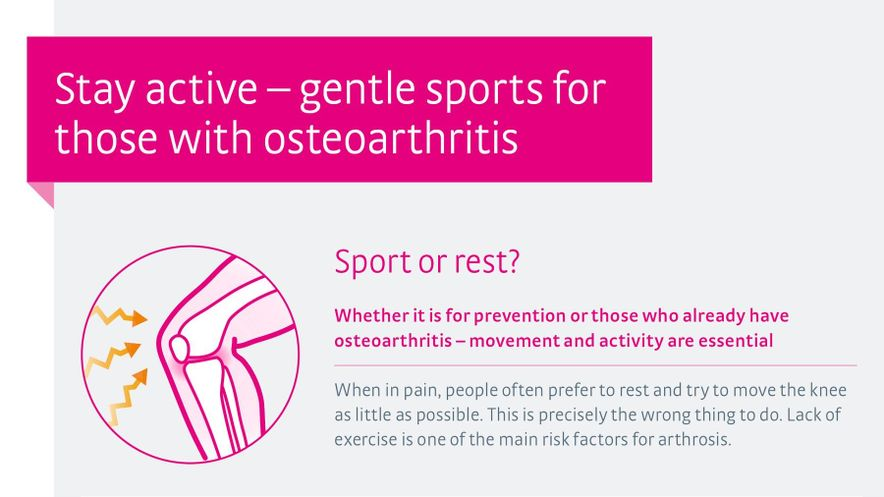 Sports and osteoarthritis