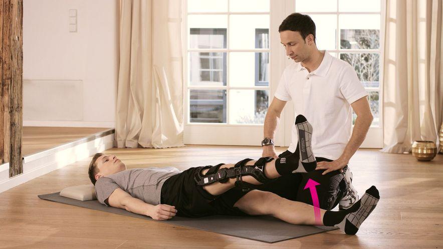 Übung zur Kräftigung der Oberschenkelmuskulatur