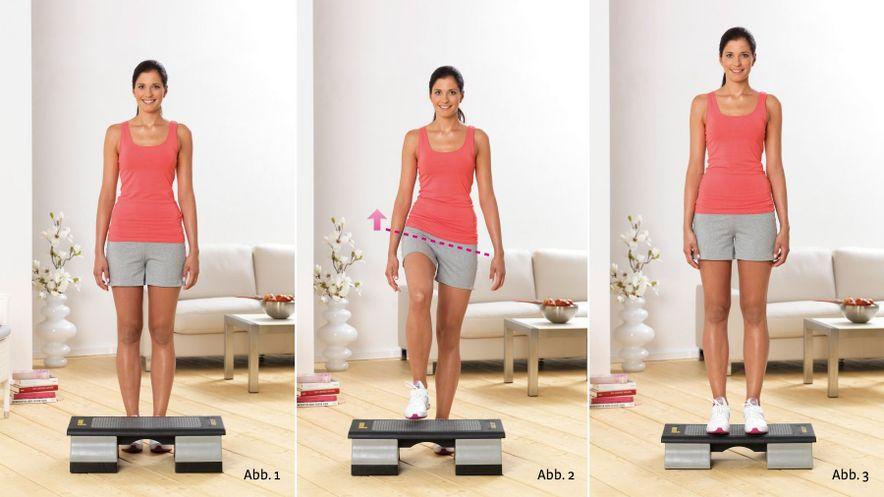 Physioübung Step-Up