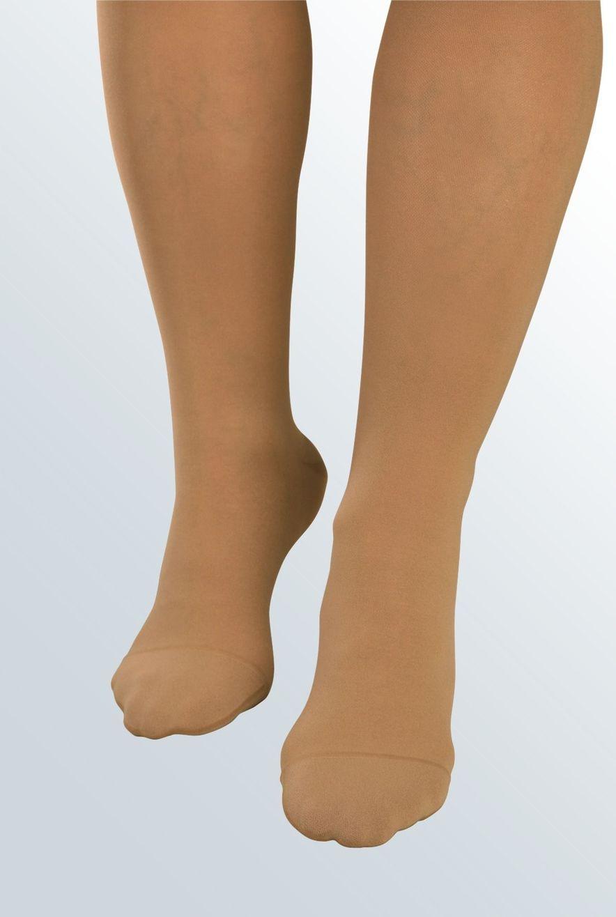 Besonders weiches und elastisches Gestrick für den Fußspitzenbereich
