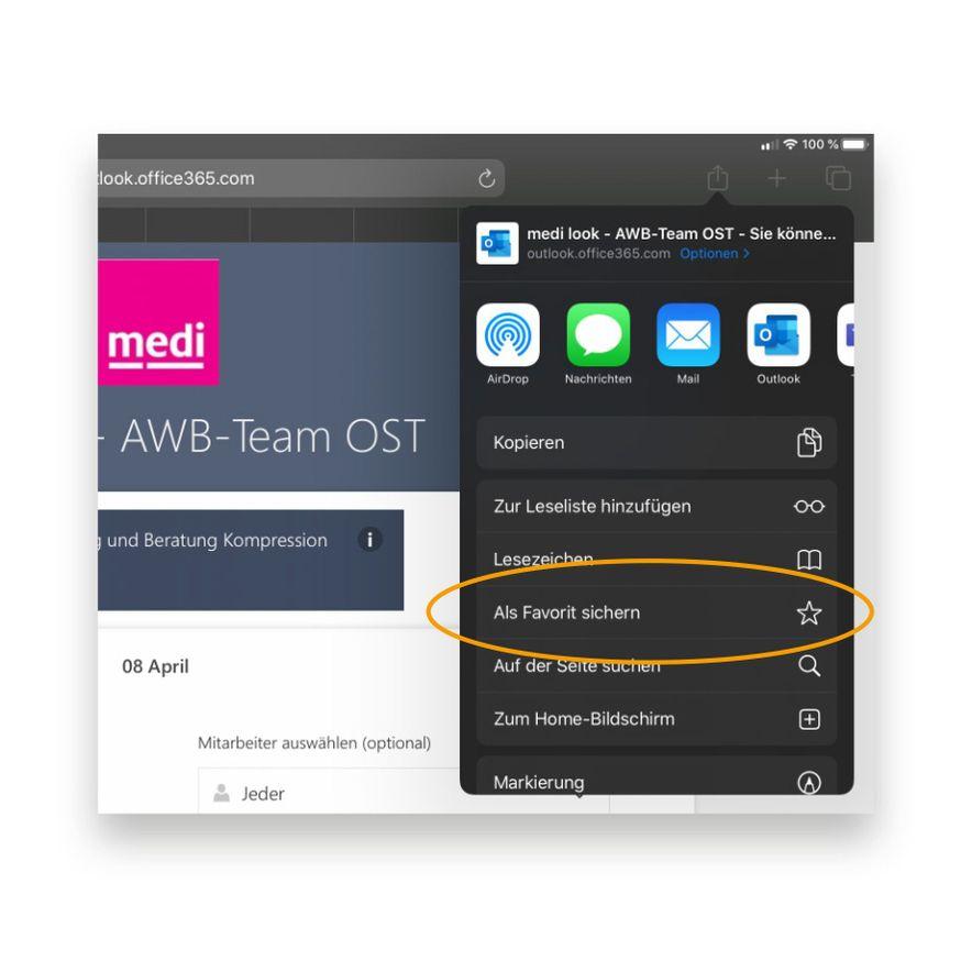 """1. Online-Buchungskalender aufrufen: medi.biz/medilook-""""Nachname des Anwendungsberaters"""""""