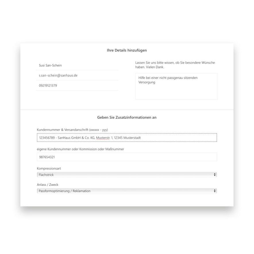 3. Kontaktdaten eintragen