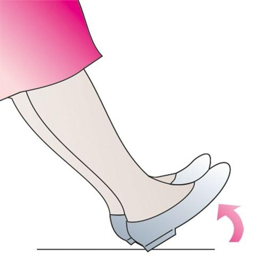 Venengymnastik:  Zehenspitzen anziehen
