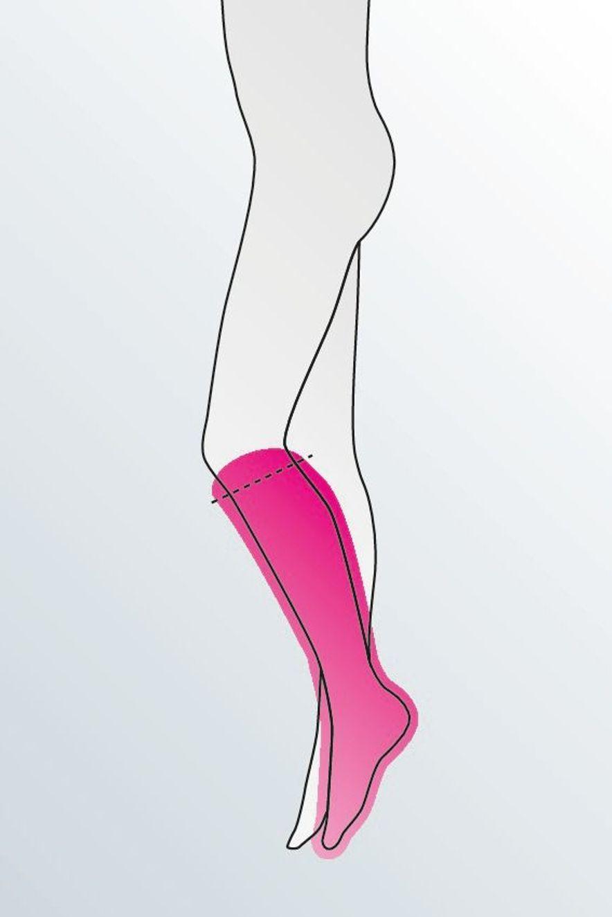 AD below knee stocking