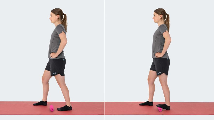 Exercise for heel spur: calf stretch