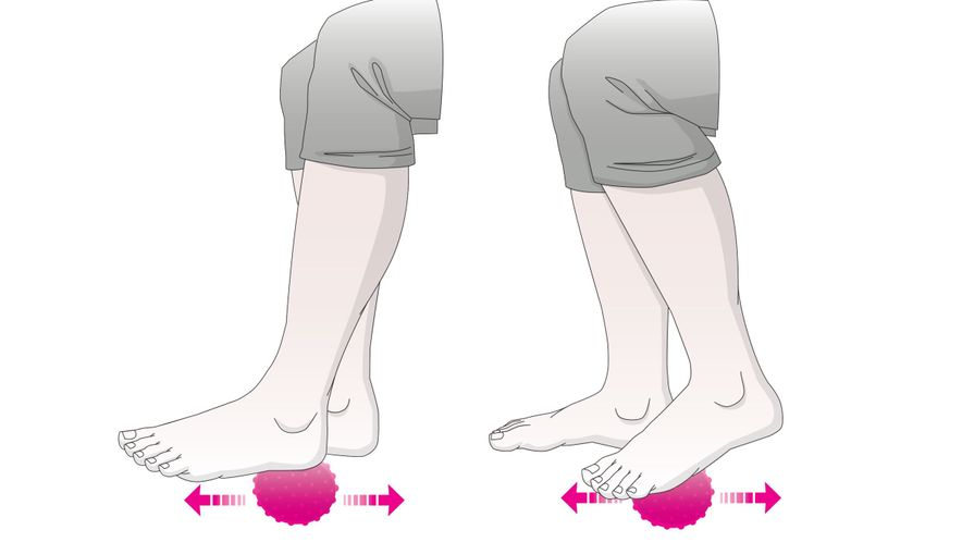 Exercises for the feet: foot massage