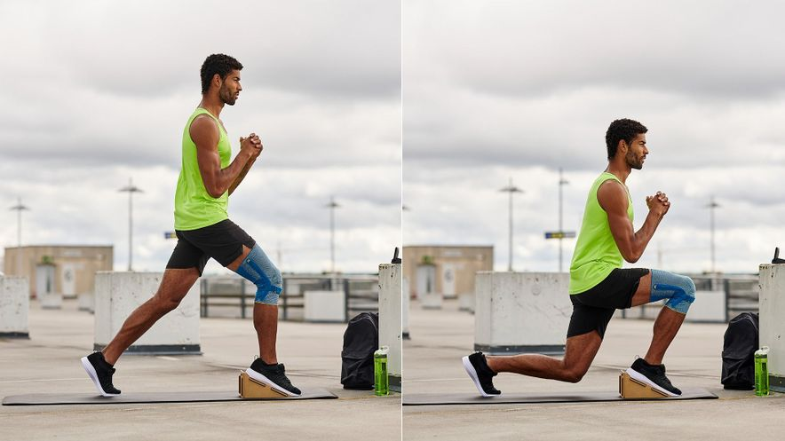 Exercise for patella tip syndrome: Side lunge