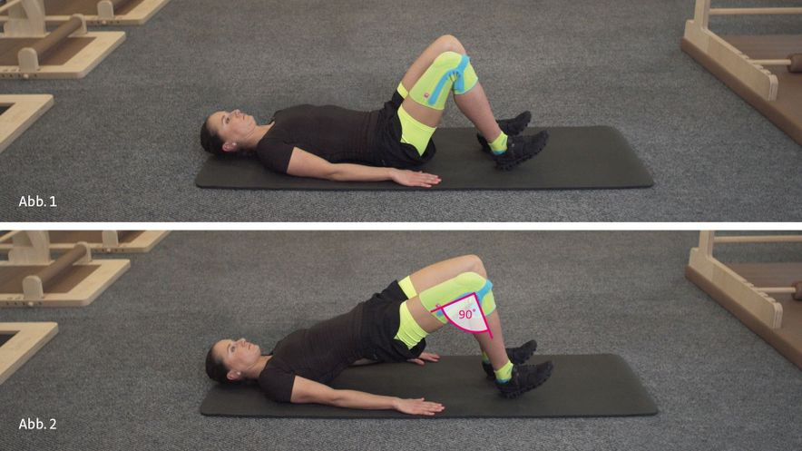 patella tip syndrome physiotherapy exercise bridging