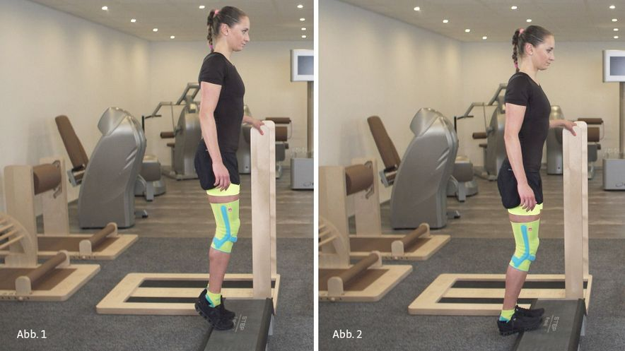 patella tip syndrome physiotherapy exercise calf raise