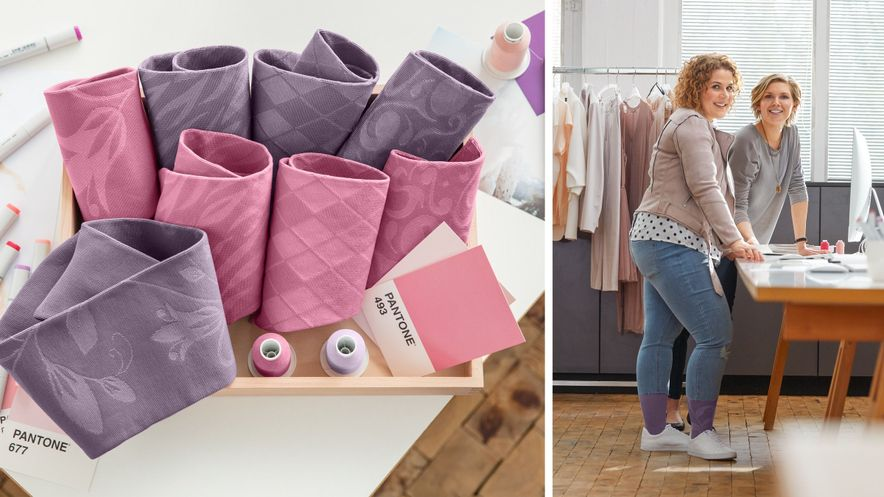Flatstickat i Lilac och Pink - två nya färger under 2018