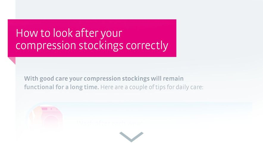 How to look after your compression stockings correctly