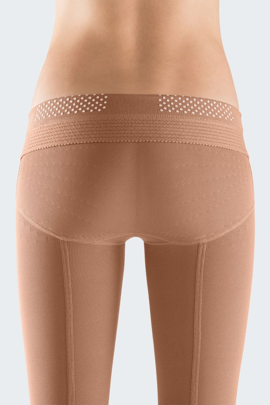 Compression tights with anti-slip-nubs