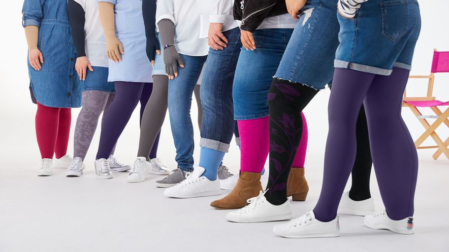 Colourful and fashionable compression stockings