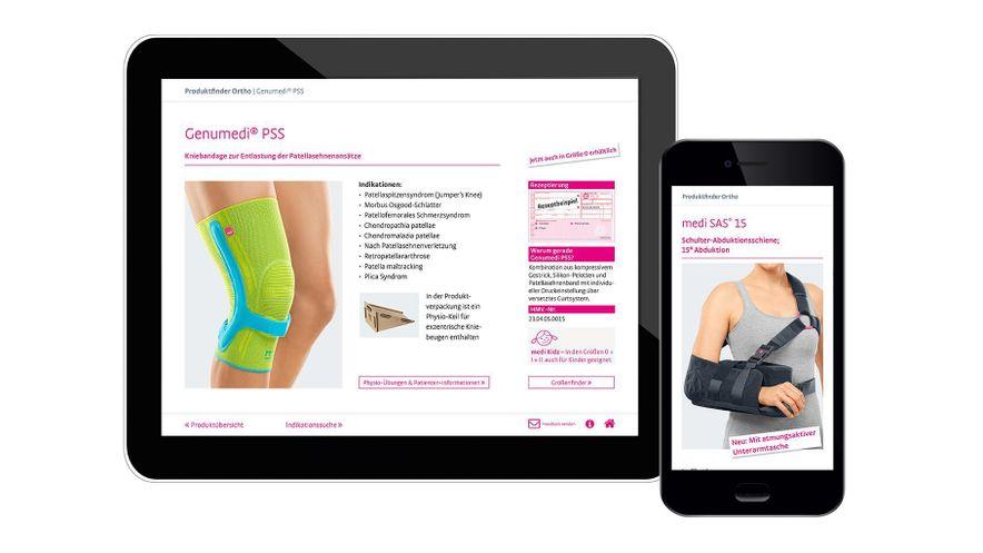 Ärzte-App: Produktfinder Ortho