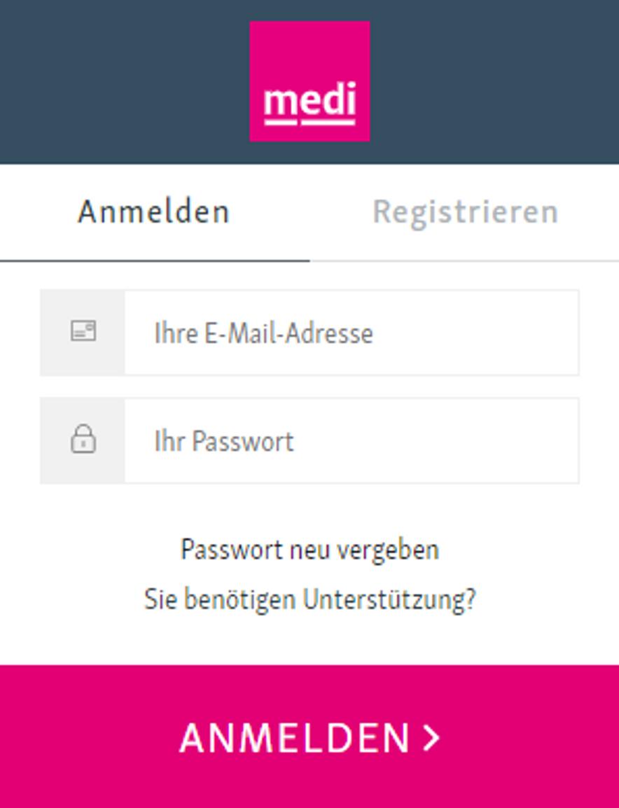 Passwort neu vergeben