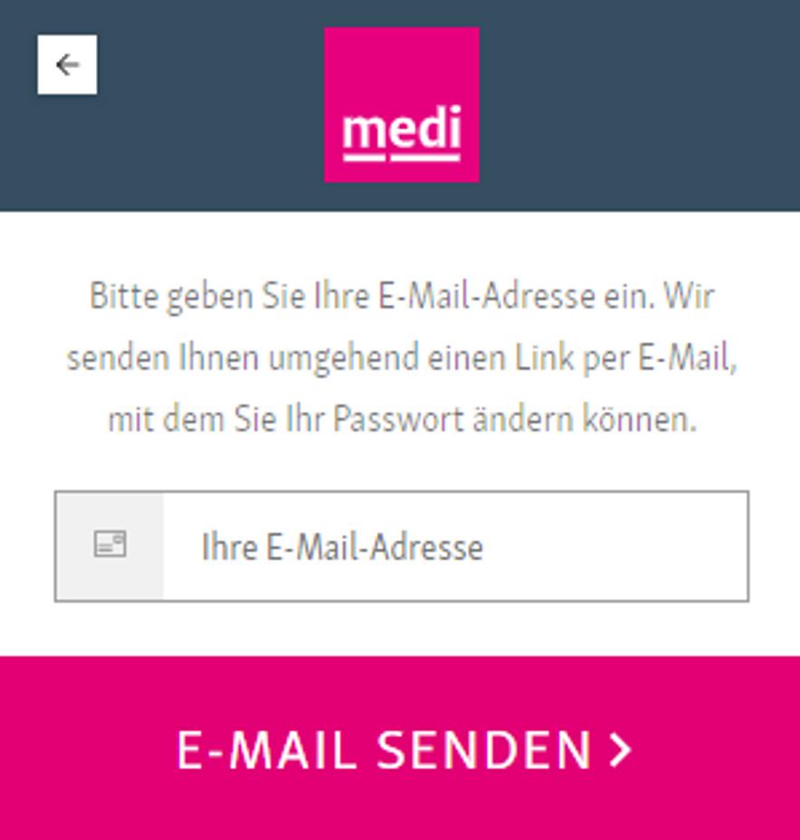 E-Mail Adresse eingeben